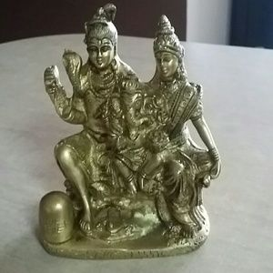 Solid brass indian decor accent